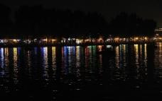 高清晰北京后海河边酒吧夜景图片