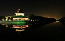 高清晰?#26412;?#25925;宫八角楼护城河夜景图片
