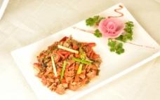 坛子菜炒肥肠图片