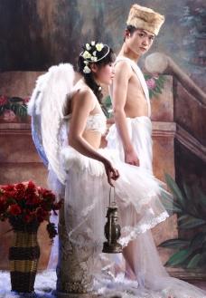婚纱摄影样片 婚纱情侣图片