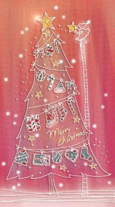 粉彩手绘圣诞素材1