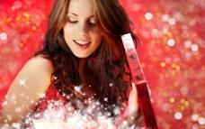 高清圣诞新年漂亮性感美女 星光图片