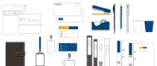 VI设计模板办公用品类图片