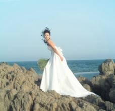 婚纱样片 海边之恋图片