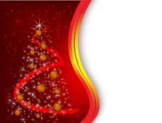 圣诞贺卡 圣诞背景 新年背景 动感线条 星光圣诞树图片