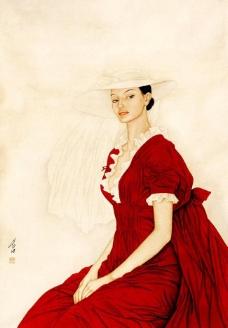 红衣女郎图片