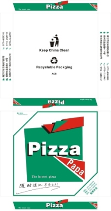 pizza盒子图片