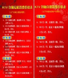 KTV包厢最底消费价格表图片