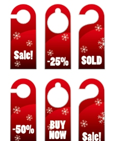 圣诞促销标签图片