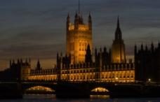 伦敦 国会大厦 夜景图片