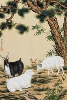 三羊图图片