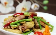 豆干炒猪颈肉图片
