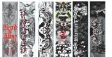 国外滑板设计图案图片