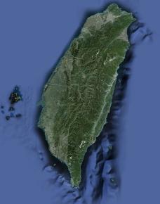 中国台湾清晰鸟瞰图图片