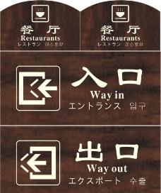 入口出口标识图片