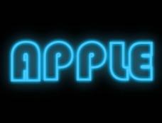 苹果发光字图片