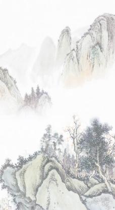 国画山水 国画素材下载