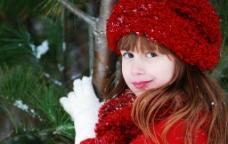 冬季可爱漂亮小女孩图片