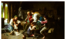饭后的一家人图片