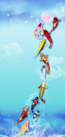 锦鲤鱼海报设计图片