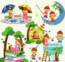 儿童与暑假图片