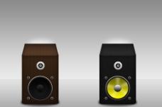 木材质音箱 PSD分层图片
