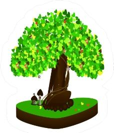 心型树图片