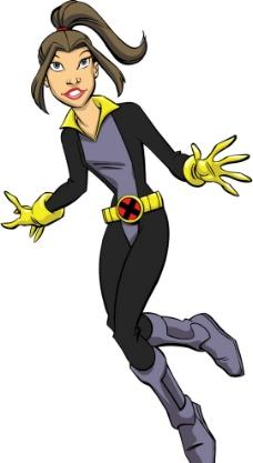 X man动画人物 X战警矢量素材图片