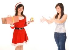 圣诞美女图片