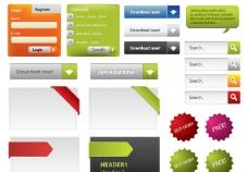网页装饰矢量素材图片