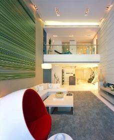 经典现代装饰装修设计 客厅空间图片