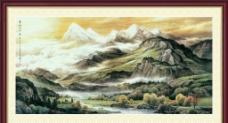 雪融山河春图片