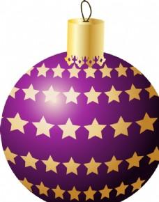 紫色的圣诞彩球图片