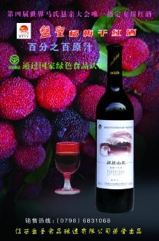 杨梅干红图片