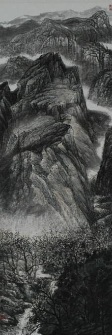 仙境,梦幻风景 虚幻山水 瀑布朦胧山水 纤夫 雾凇笼罩