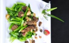 菜心猴头菇图片