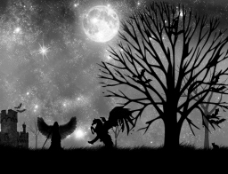 暗夜星空图片