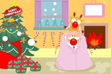 感冒的圣诞老人图片