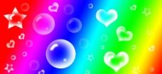 泡泡心形五角星图片
