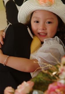 儿童写真样片 浪漫的小女孩图片