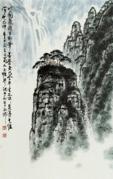 青岩飞瀑图片