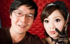 中国高度近视眼镜美女
