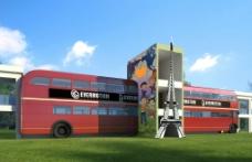 英国巴士浮雕效果图图片