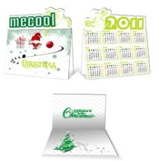 2011年圣诞台历(效果图)图片