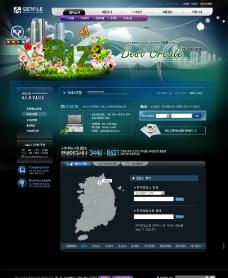 韩国科技网页模板图片