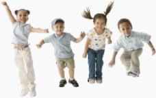跳跃的孩子们图片