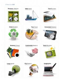 环保商务网络元素