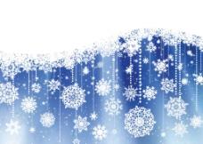 雪花背景矢量素材图片