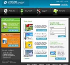 软件销售网站网页模板图片