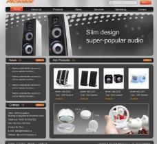 音响网页模版图片